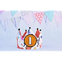 Corona cumpleaños animales decoración de cumpleaños animalitos regalo primer cumple bebé