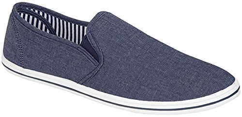 Unknown Urban, Espadrillas basse uomo, (Urban Grey (Denim blue)), 42.5