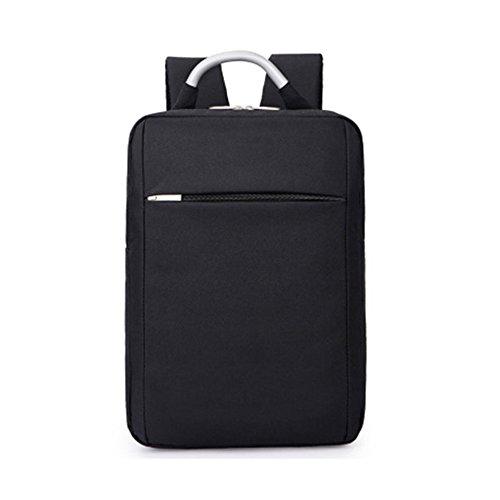 DEjh Laptop-Rucksack für die Arbeit beim Bergsteigen mit großem Fassungsvermögen für den Einsatz im Büro (Farbe : Schwarz)