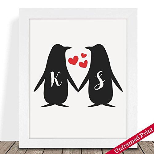 Regali Di Natale Per Fidanzato.Penguin Coppia Personalizzata Regali Di Natale Il Suo Di Lui
