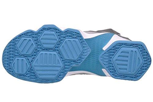 Nike Lebron Xiii, Chaussures de Sport-Basketball Homme, Taille Gris / blanc / bleu / gris (gris loup / blanc - lagon bleu - gris foncé)
