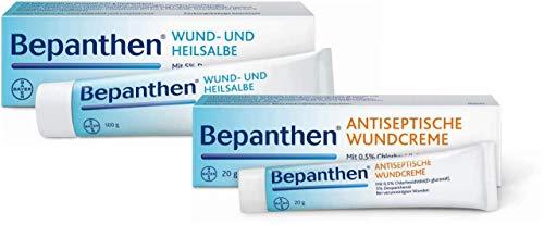 Bepanthen Wund und Heilsalbe 100 g + Antiseptische Wundcreme 20 g