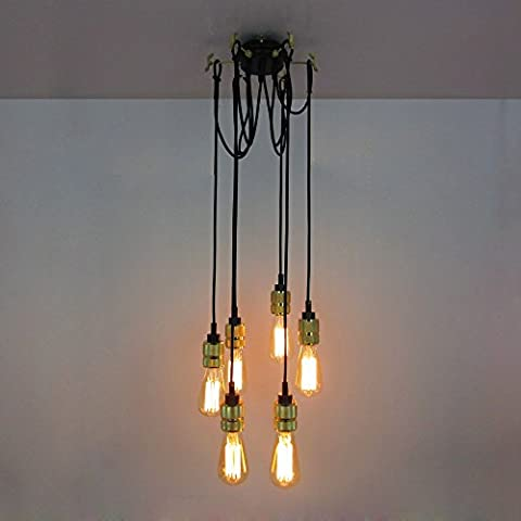 GIlight E27 Loft Antique Chandelier Modern Chic Industrial Dining Light