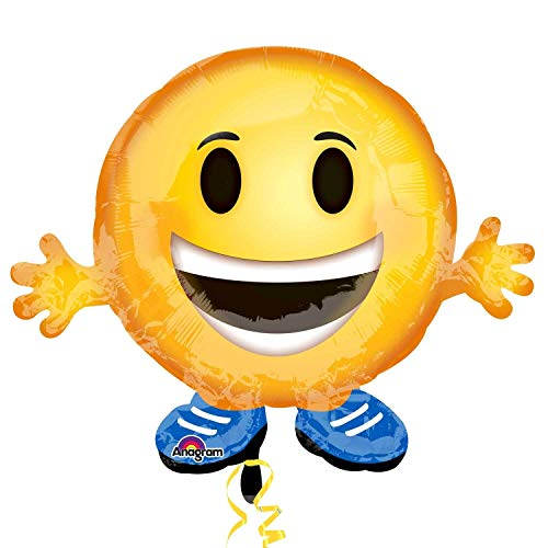Amscan International 3458101 Emoticon Buddy Jnr - Globo de Papel de Aluminio