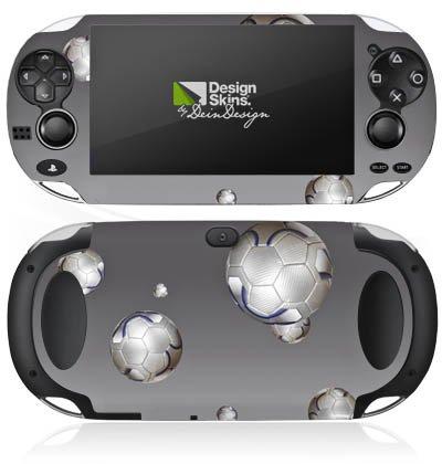 Sony PS Vita Case Skin Sticker aus Vinyl-Folie Aufkleber Fußball Sport Silber