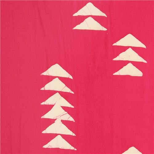 tessuto fucsia motivo geometrico triangoli Andover