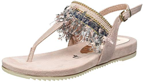 Tamaris 1-1-28105-22, Sandali con Cinturino alla Caviglia Donna, Multicolore (Rose Metallic 952), 38 EU