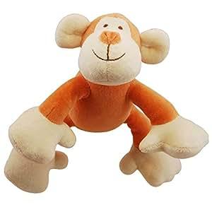 PELUCHE jouet chien laine bio SINGE 15cm 1 sonore de Martin Sellier