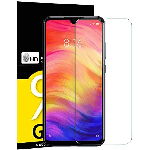 NEW'C Verre Trempé pour Xiaomi Redmi Note 7 / Redmi Note 7 Pro, Film Protection écran - Anti Rayures - sans Bulles d'air -Ultra Résistant (0,33mm HD Ultra Transparent) Dureté 9H Glass