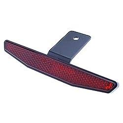 Motorrad Reflektor hinten rot mit Halter 125x18mm Rückstrahler Katzenauge Roller Quad E-geprüft