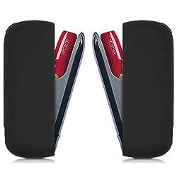 kwmobile Hülle kompatibel mit IQOS 3 Pocket Charger - Silikon Case TPU Schutzhülle - Cover Behälter Etui Schwarz