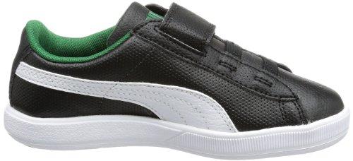 Puma Archive Lite L V Kids, Low-top mixte enfant Noir - Schwarz (black-white-verdant green 02)