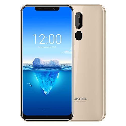 OUKITEL C12 Pro 4G Móviles y Smartphones Libres,6.18 Pulgadas con U-Notch (relación 19: 9),Android 8.1 Double SIM,MTK6739 a 1,5 GHz,Quad Core 2GB RAM 16GB ROM,Face ID-Dorado