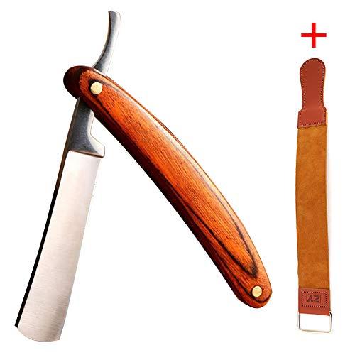 Professionelle Barber Shaving Set Leather Strop, Men es Straight Cut Falten Razor