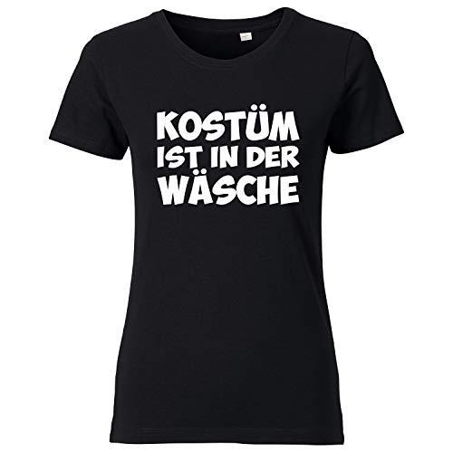 ist in der Wäsche - Damen T-Shirt Schwarz M ()