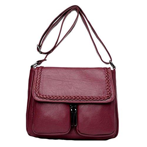 Kuriertasche Schultertasche Einfache Mode Mutter Tasche Freizeit Wilde Atmosphäre Elegant Red