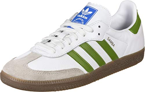 adidas Herren Samba OG Sneaker, Weiß (FTWR White/tech Olive/Light Brown 10013806), 42 2/3 EU