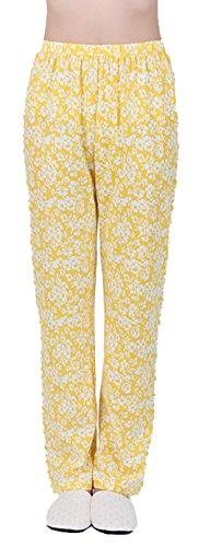 Sweetmaker Damen Schlafanzughose Einheitsgröße Gelb