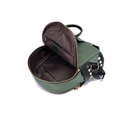 Oxford Gewebte Nieten Nylon Tasche Wilde Casual Schulter Tasche College Stil Paket Einfache Mode Green