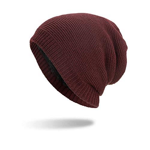 (LOLIANNI Mädchen Caps Solide Baumwolle Hüte Unisex Warme Winter Wolle Strickmütze Junge Kampf Farbe Plus Kaschmir Stricken Ohrenschutz Warm Haufen Mütze Kopf Hut)