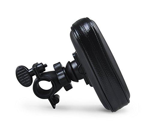 PRECORN Handy Fahrradtasche in der Grösse L zur Montage am Lenker Handyhalter am Fahrrad Fahrradhalterung Lenkradhalterung mit wasserdichter Schutzhülle Tasche Universal für Smartphones, Handy, Navi, GPS, etc. in Schwarz