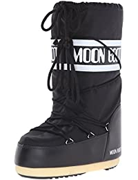 Tecnica Moon Boot Nylon Nero, Unisex-Kinder Outdoor SchneeStiefel,