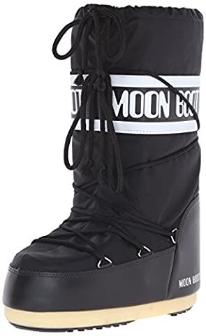 Moon Boot Nylon, Bottes de Neige mixte adulte - Noir (Nero), 39-41 EU