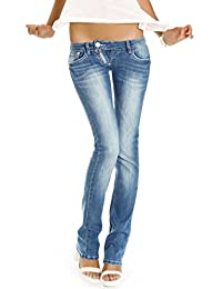 Bestyledberlin Jeans taille basse jeans femme niveau hanches pantalon style low rise j99a