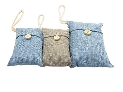 Premium Aktivkohle Air Purifying Bag Pack?Geruchsneutralisierer, 100Prozent Natürliche Chemie-frei, natürlich aktiviert Bambus Air Purifying Bag - 100g+100g+200g