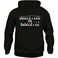 Cappuccio Luci Stranger Stay Or Unisex Tv I Go Serie Felpa Things Should Zwdq4Z0