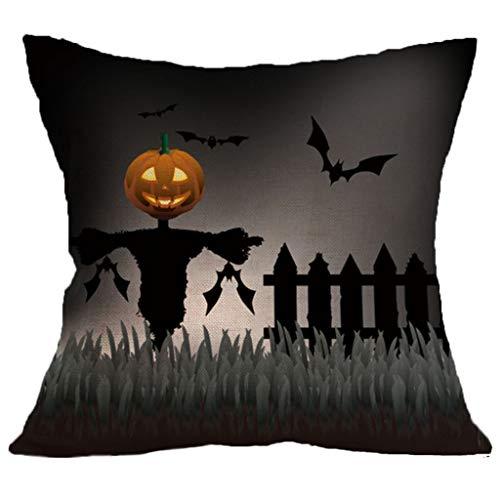 Kissenbezug, Spirit of Halloween Thriller Throw Kissenbezüge 100% Baumwolle Leinen Reißverschluss, Kissen Couch Kissenbezüge,B,18
