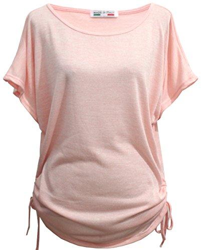 Emma & Giovanni - T-Shirt/Oberteile Kurzarm - Damen (XL/XXL, Rosa)