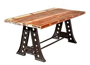 Gauche 85300410salle à manger table à manger 180x 90cm Mangue en métal Motif Shabby table
