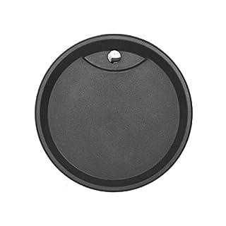 Astracast Vortex Graphitgrau Granit-Abtropffläche Grau Auflagebecken Küche
