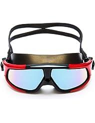 45bc54918b6a8 Lunettes de plongée Lunettes de course réglables Anti-buée HD Plage  Vacances Grande vision Lunettes