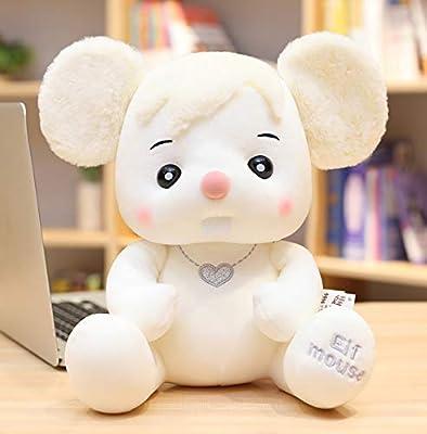 WHKJ Ratón Creativo Juguete de Peluche Lindo Zodiaco ratón Mascota Navidad Día de San Valentín Regalo de cumpleaños niños Comodidad Creativa muñeca Almohada 30cm por WHKJ