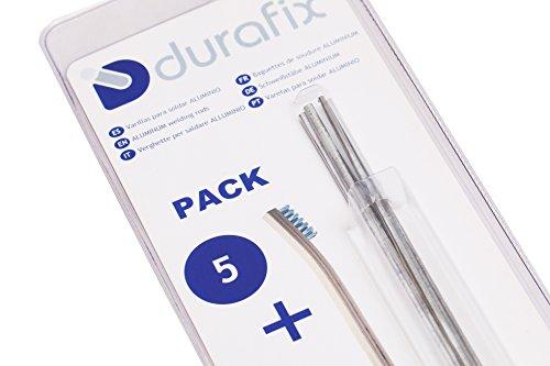 DURAFIX - 5 Varillas para soldar aluminio + 1 Cepillo inoxidable