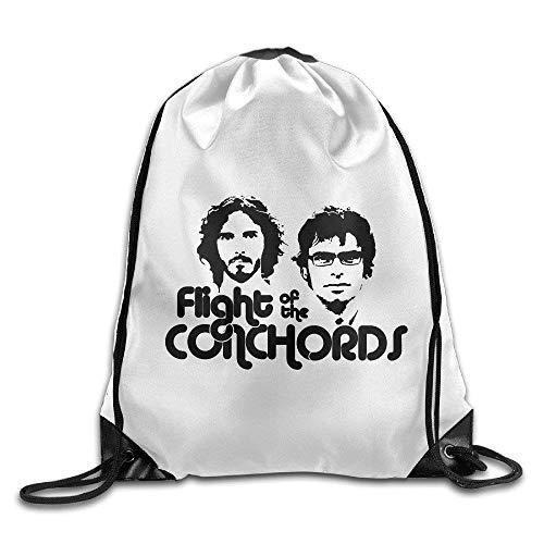 Etryrt Turnbeutel/Bedruckte Sportbeutel, Premium Drawstring Gym Bag Rucksack, Flight of The Conchords Logo Drawstring Backpack Cool Sports Bag -