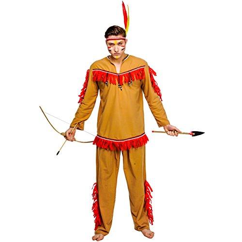 Kostüm Haar Indianer - SEA HARE Erwachsene Männer Indianer Indianer Kostüm