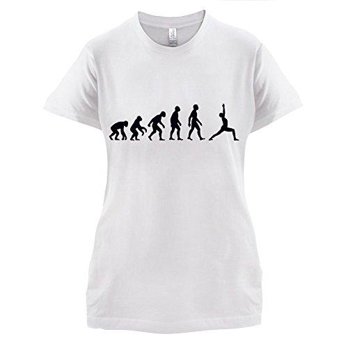 Evolution Of Man Yoga - Damen T-Shirt - 14 Farben Weiß