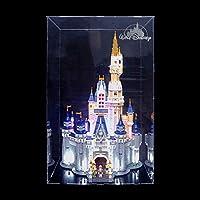 Haunen Acrylic Display Case/Box for Brick Building Block, Dustproof ShowCase Display Box for LEGO Disney 71040 (NOT Included The Model)