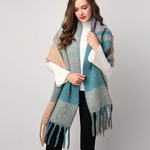 Damen Winter Schal XXL Karo Deckenschal Kariert Streifen übergroßer Winterschal Damenschal MEHRWEG Plaid Fashion Damen Schals