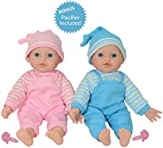 The New York Doll Collection Twins Baby Doll - Soft Body Twin Baby Dolls