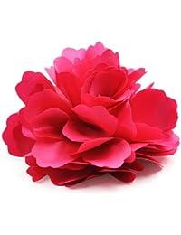 Generic - Chicas mujeres satin peony pelo broche de la flor del clip - rojo