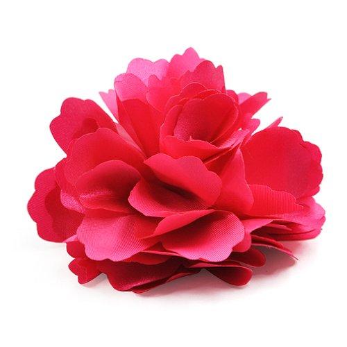 TOOGOO(R) Pince a cheveux Broche de corsage De forme de rose rouge en soie