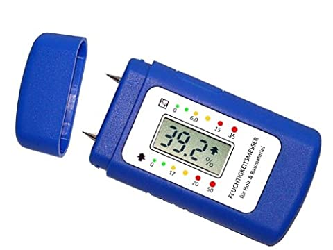 Moisture Meter - Moisture Detector for wood, building materials (screed, concrete, wall) and other materials - With switch mode to select