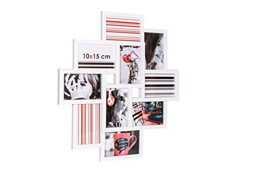 Ceanothe - 34437 - Détroit Cadre Photo - Multi-Vues - 10 x 15 cm - Blanc
