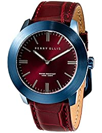 70e2263bc0 Perry Ellis Slim Line Men 46mm Quartz Watch 03008-01