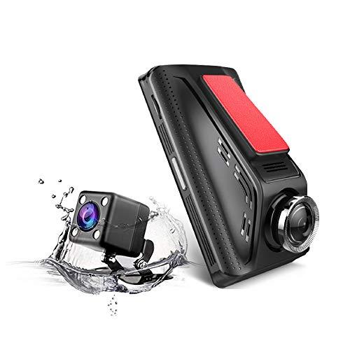 1080P Auto-Kamera mit 8,9 cm (3,5 Zoll) IPS-HD-Bildschirm, Dashcam mit Front- und Rückkamera mit 6 Glaslinsen, HD-Nachtsicht-Recorder, unterstützt Dual-Bildschirm-Display -