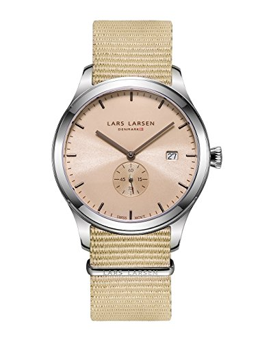 Lars Larsen Men's Watch Analogue Quartz Canvas Beige 129SAAN